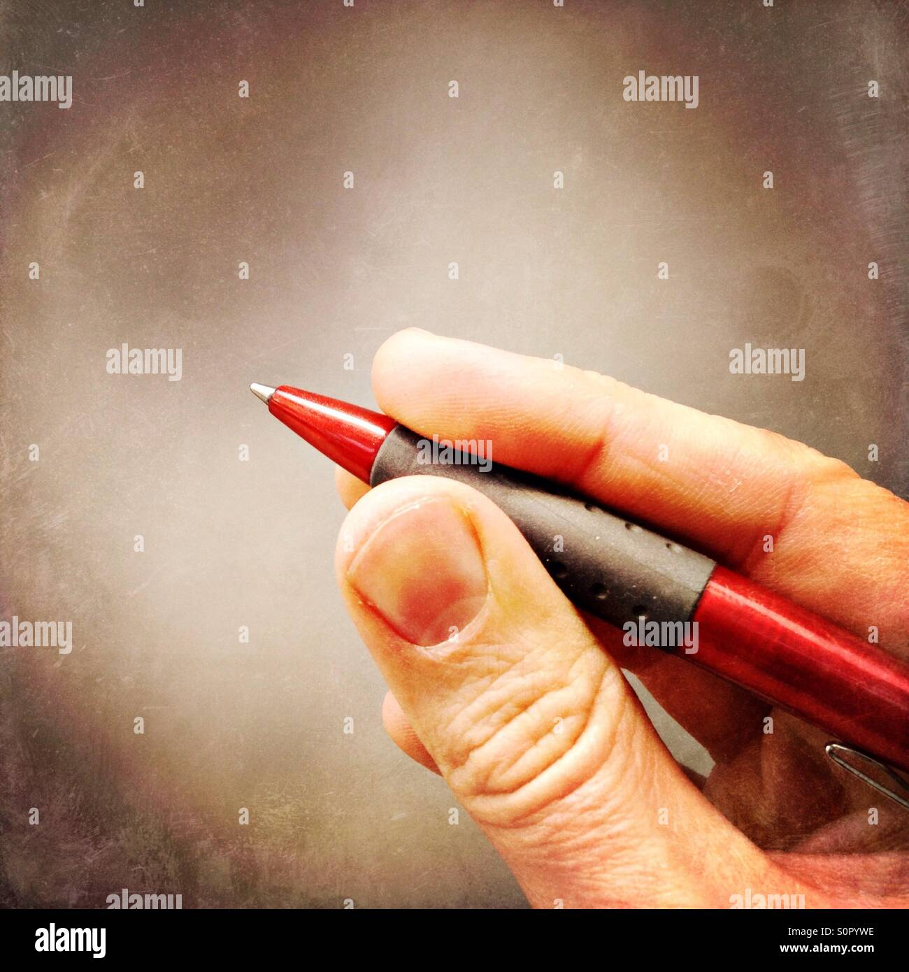 Red pen - Stock Image