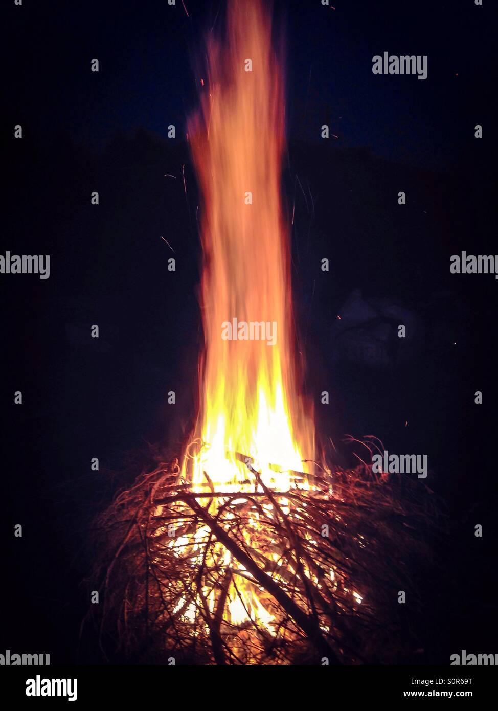 Bonfire - Stock Image