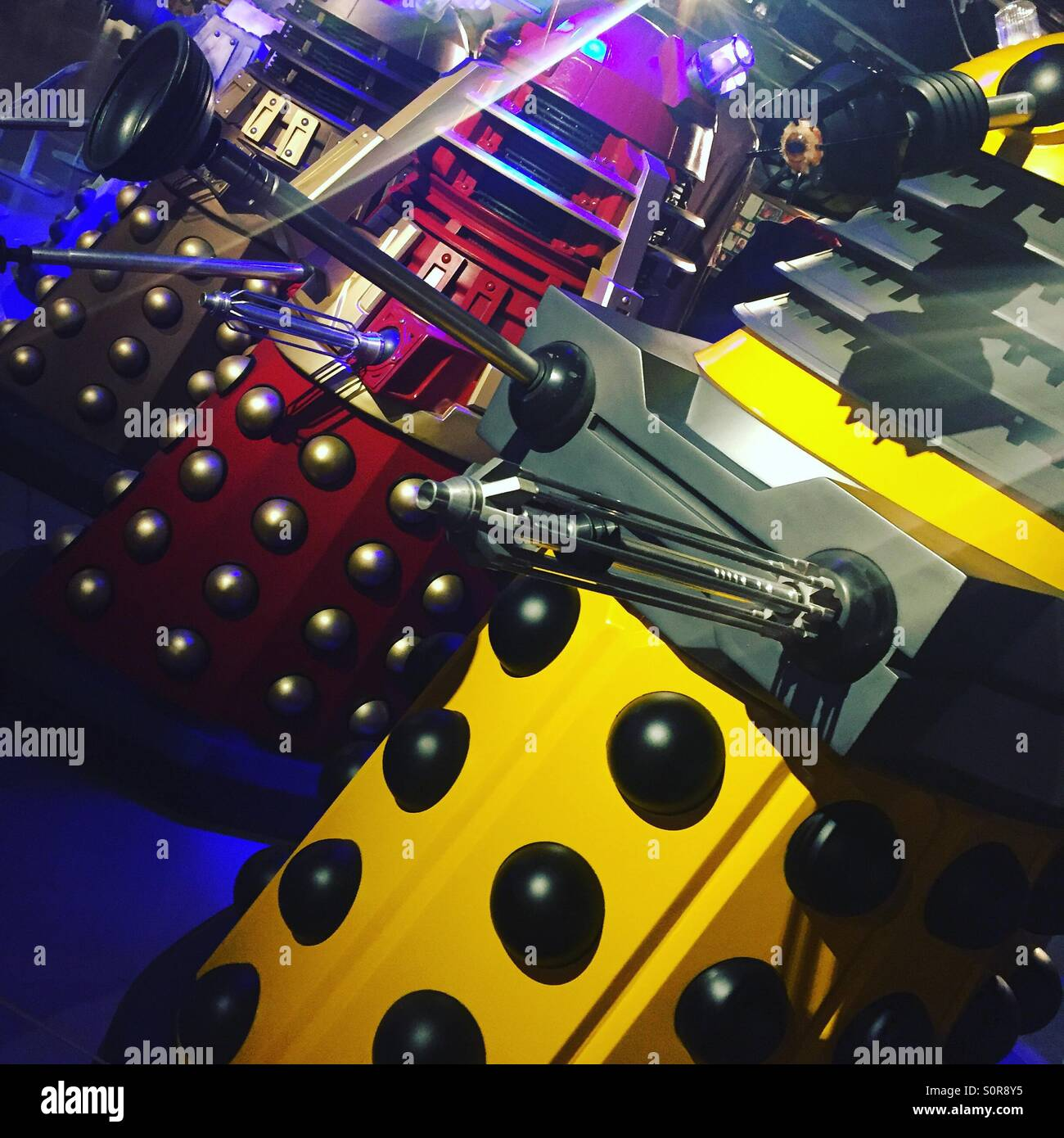 Daleks at the Doctor Who Experience, Cardiff. - Stock Image