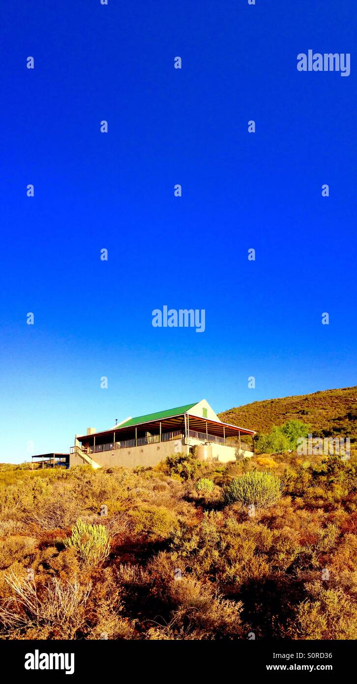 A farmers cottage in south Africa's Klein Karoo - Stock Image