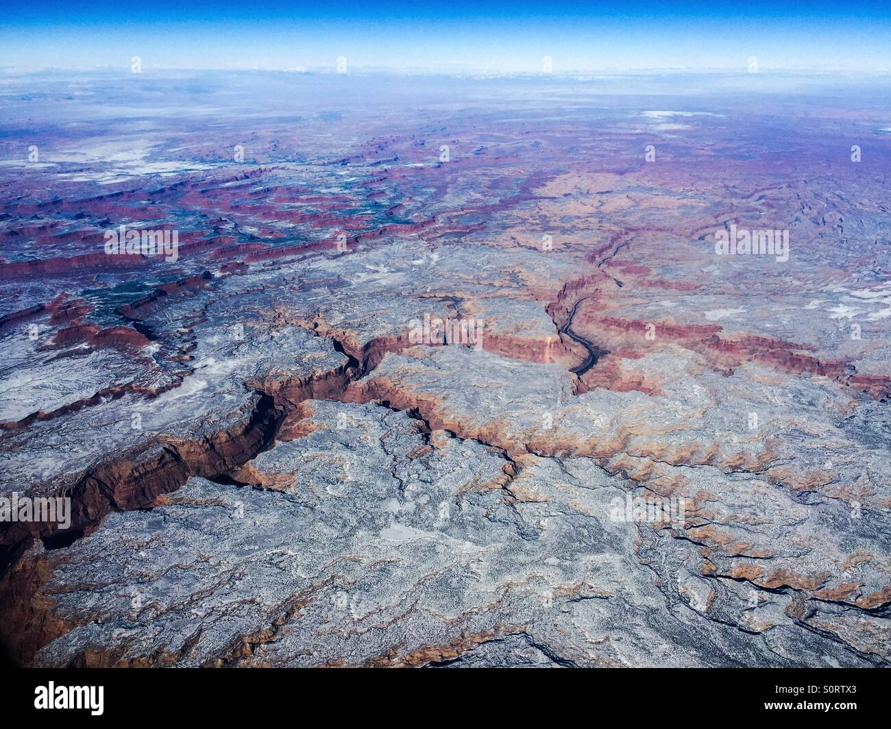 Eastern Colorado Canyons from Above - Stock Image