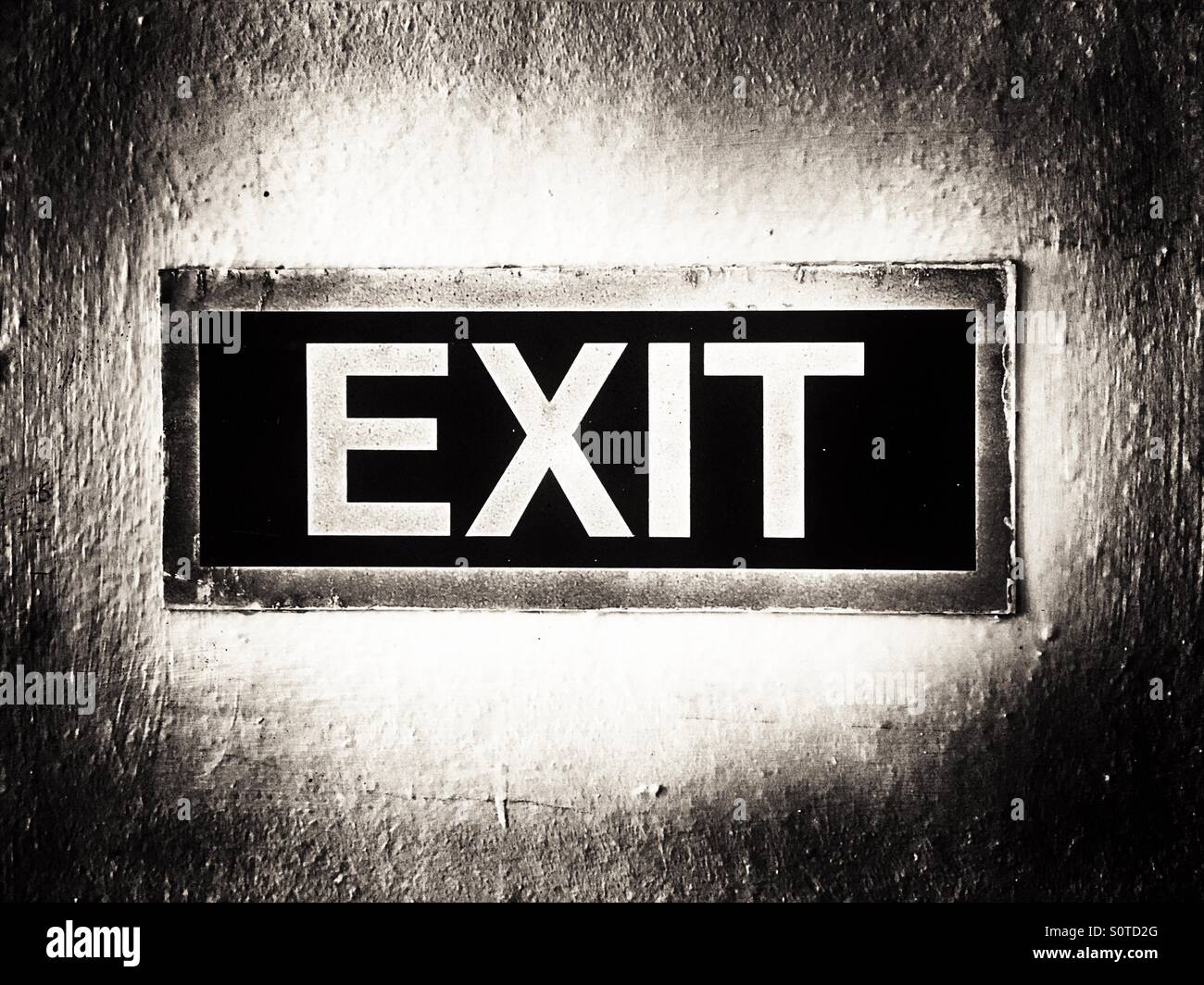 Monochromatic Exit Sign - Stock Image
