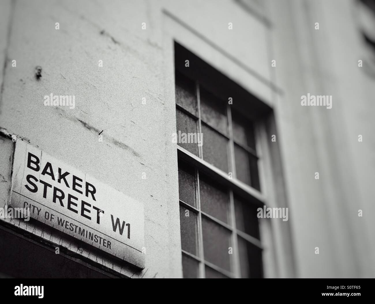 Carrelage Baker Street Blanc street name sign baker street stock photos & street name