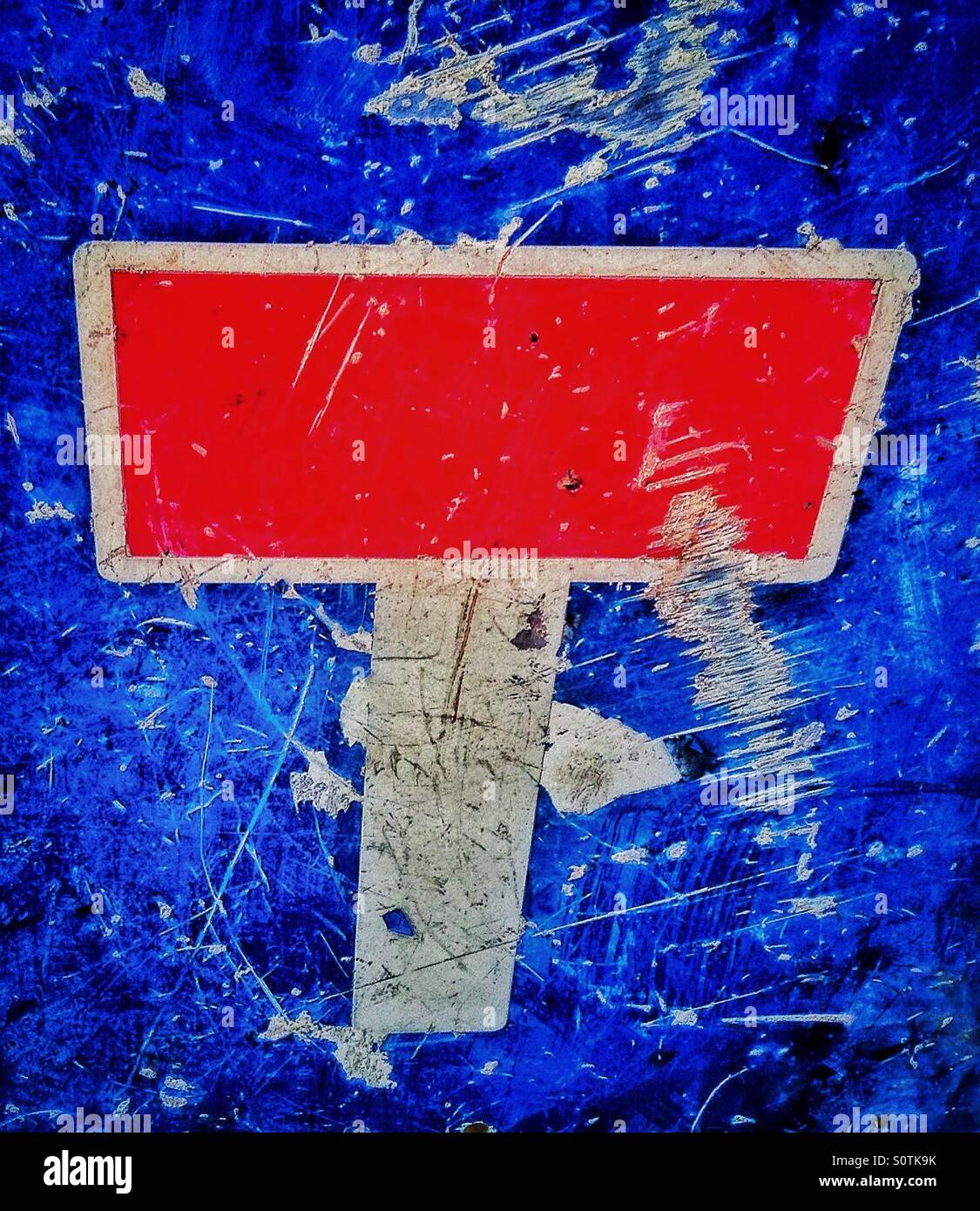 Dead end. No through road traffic sign - Stock Image