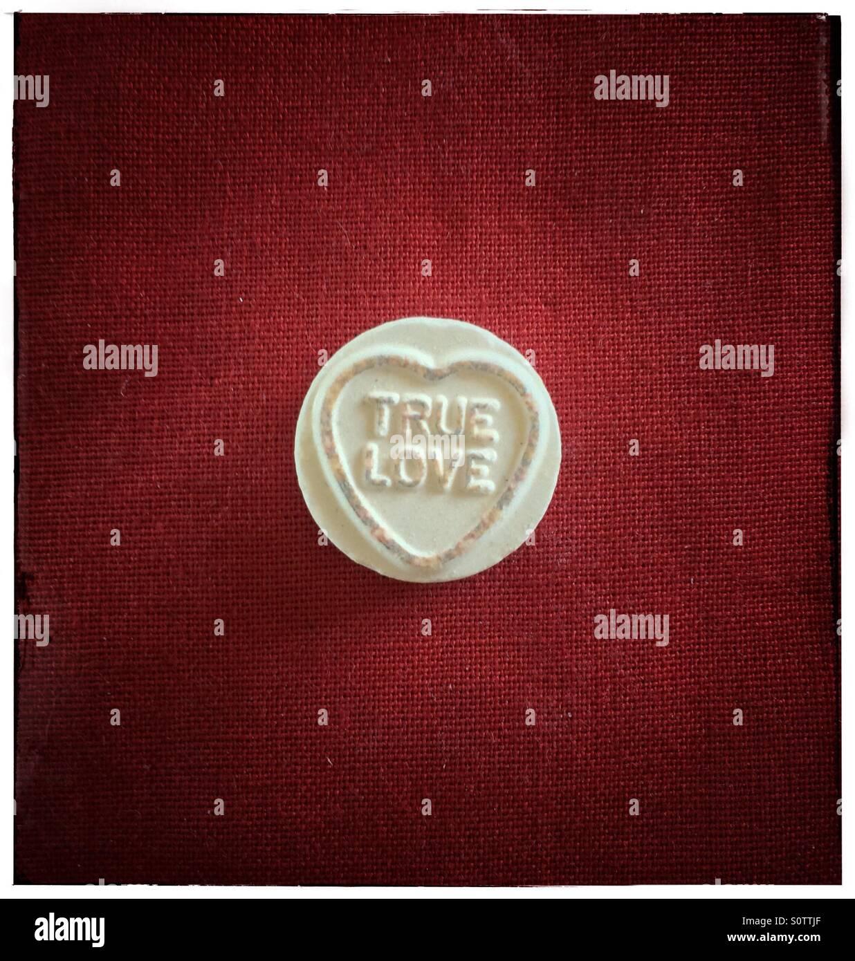 True love, loveheart sweet. - Stock Image