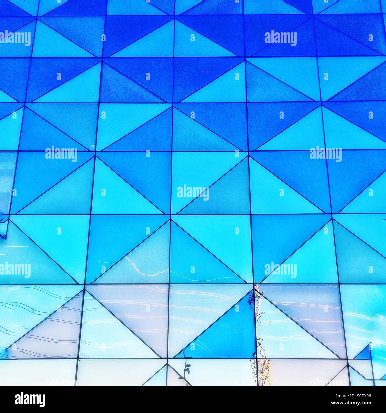 Squares and triangles - Stock Image