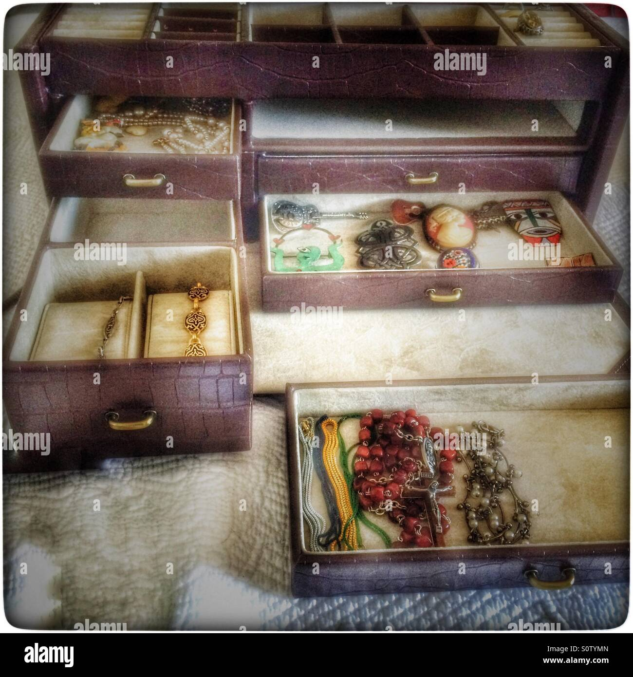 Jewelry box. - Stock Image