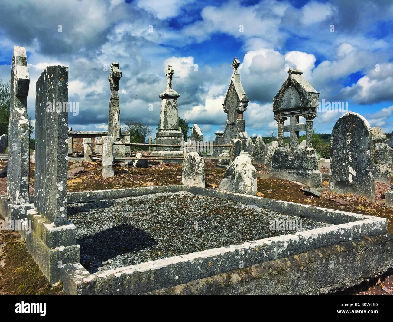 Cemetery Cork , Ireland - Stock Image