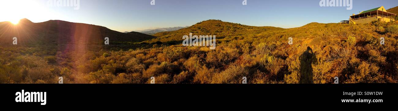 A sunset in south Africa's Klein Karoo - Stock Image