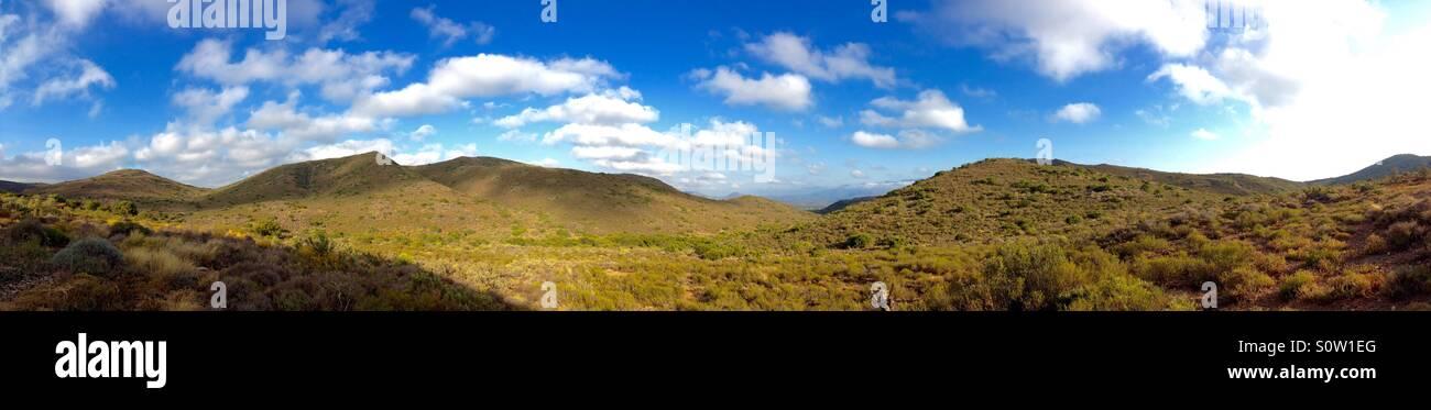 A panorama of south Africa's Klein Karoo - Stock Image