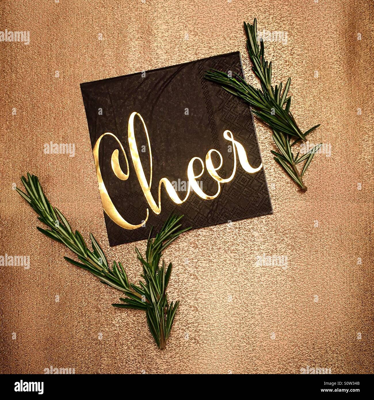 Cheer on New Years Eve! - Stock Image