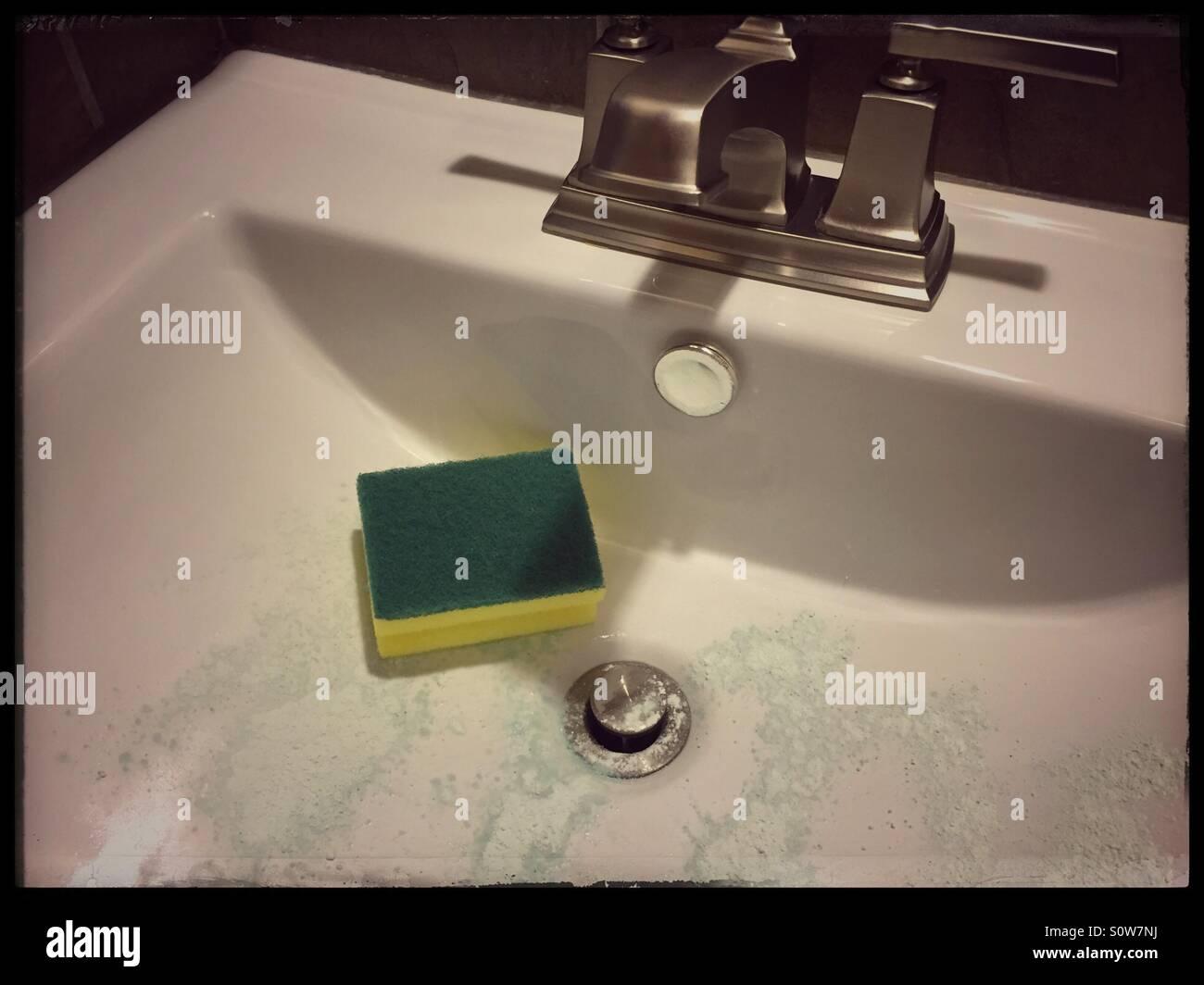 how to clean bathroom drain