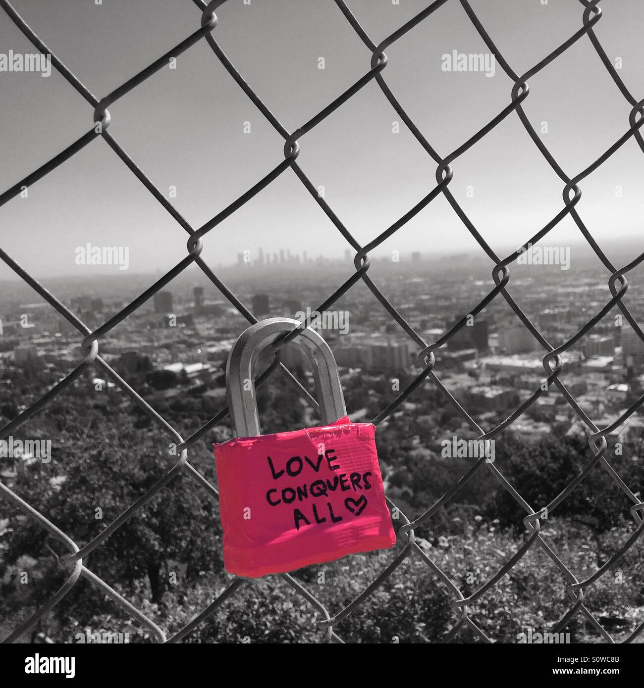 Love conquers all - Stock Image