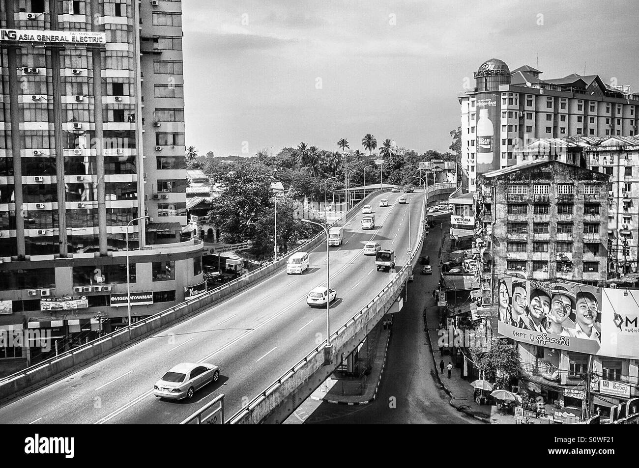 Downtown Yangon, Myanmar - Stock Image