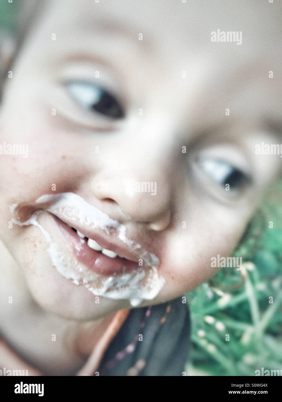Ice cream mouth - Stock Image