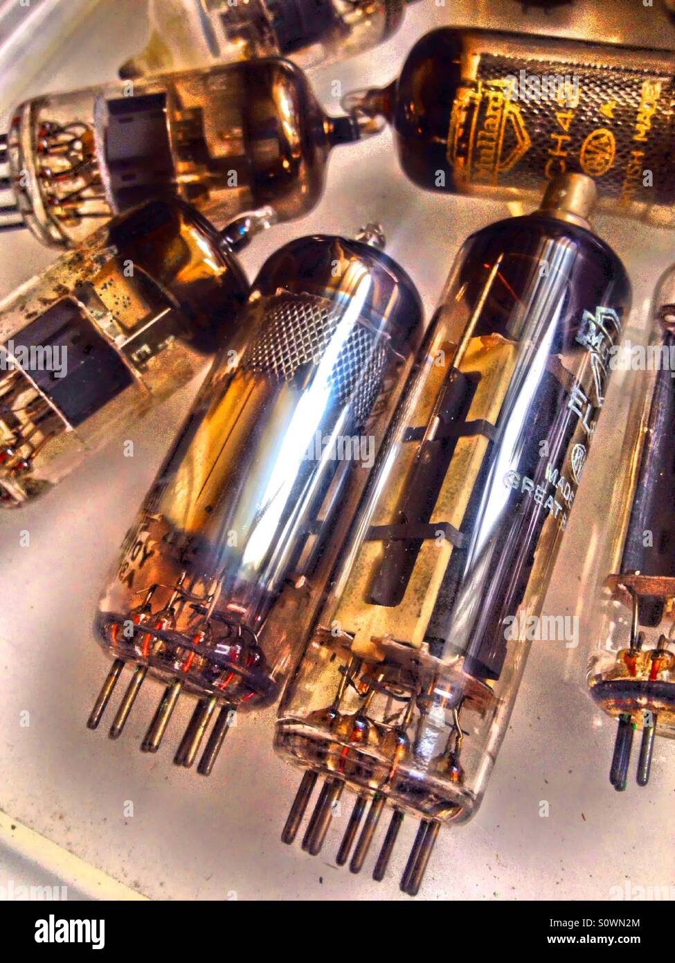 Vintage radio and television valves Stock Photo: 310351964 - Alamy