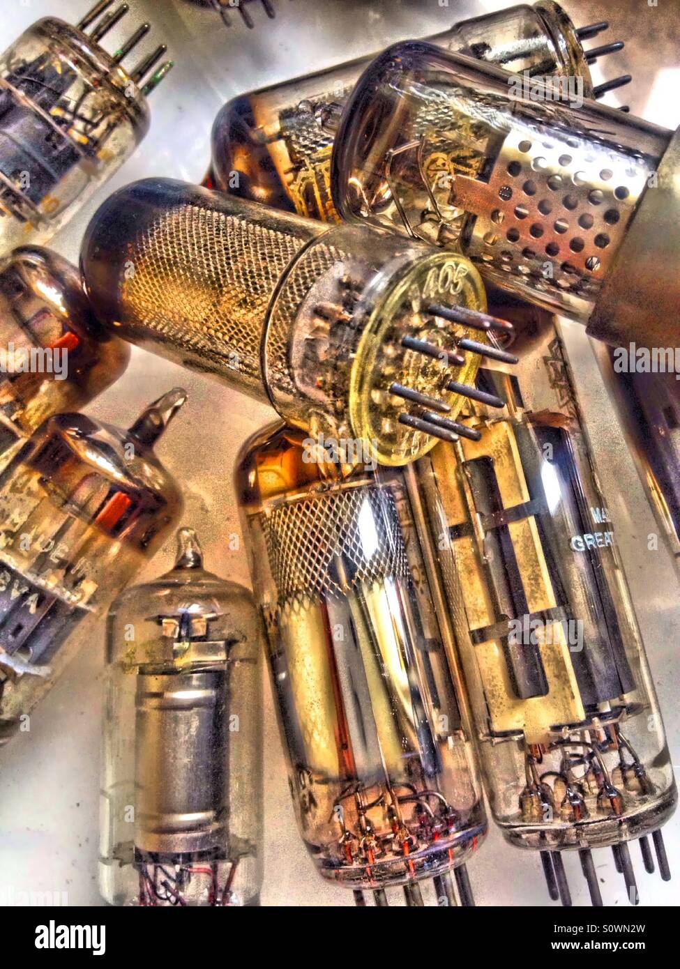 Vintage radio and television valves Stock Photo: 310351969 - Alamy