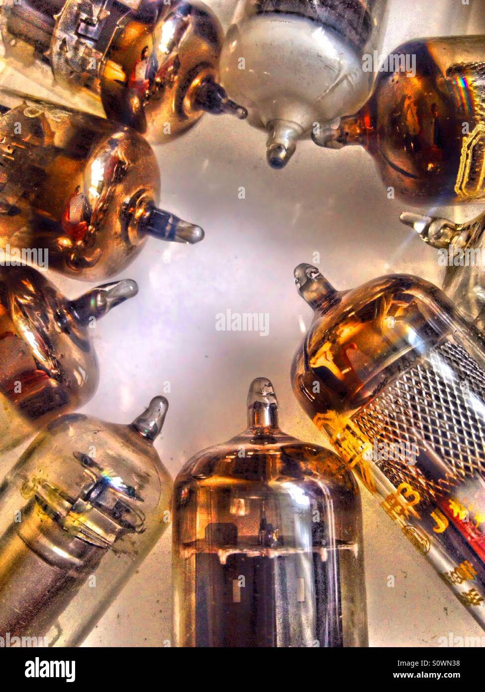 Vintage radio and television valves Stock Photo: 310351980 - Alamy