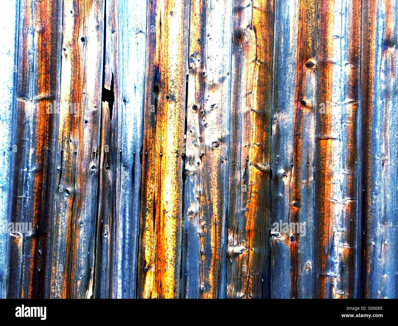 Weathered barn wood - Stock Image