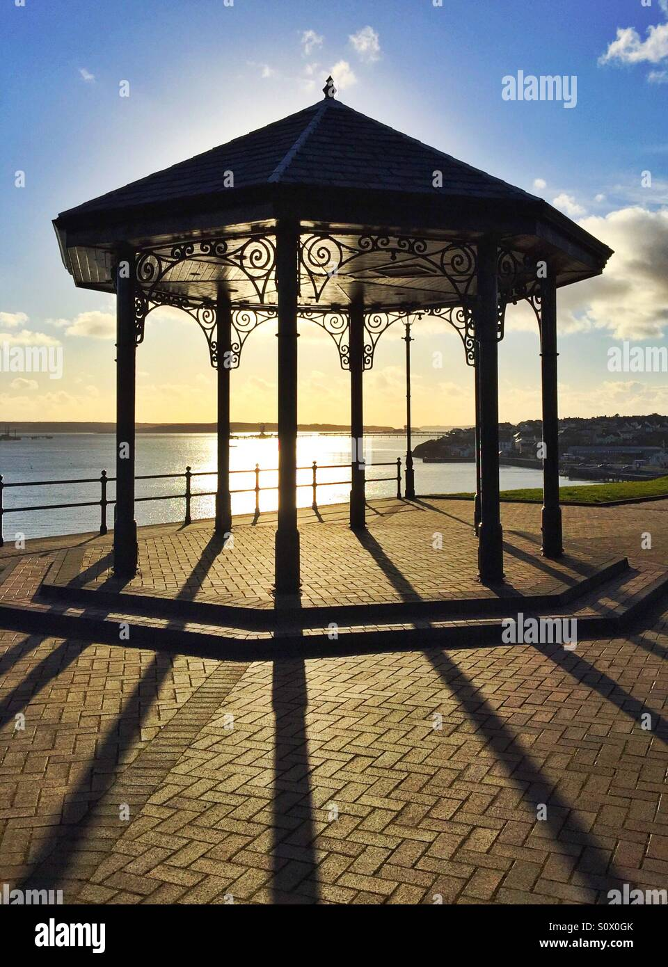 Bandstand at golden hour - Stock Image