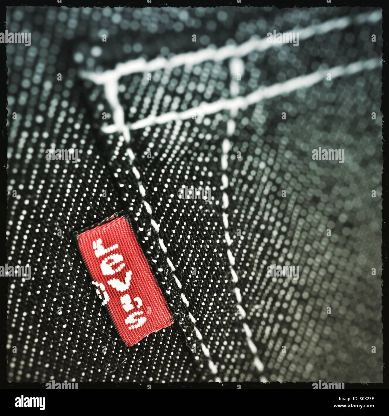 Levi's Red Tag jeans label Stock Photo
