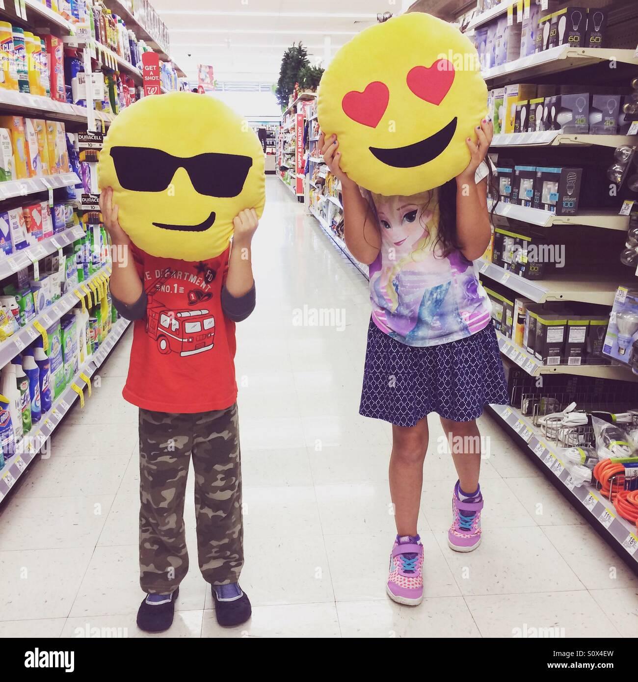 Emoji heads - Stock Image