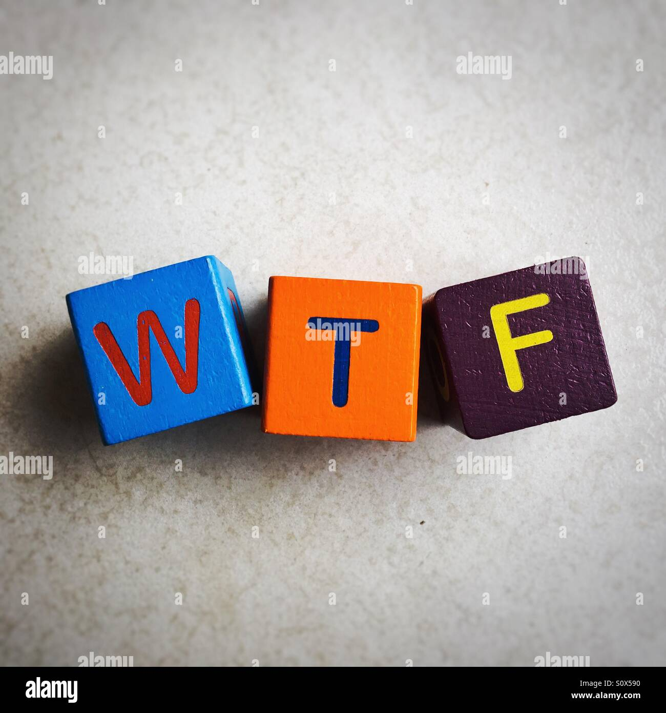 What the f*** - Stock Image