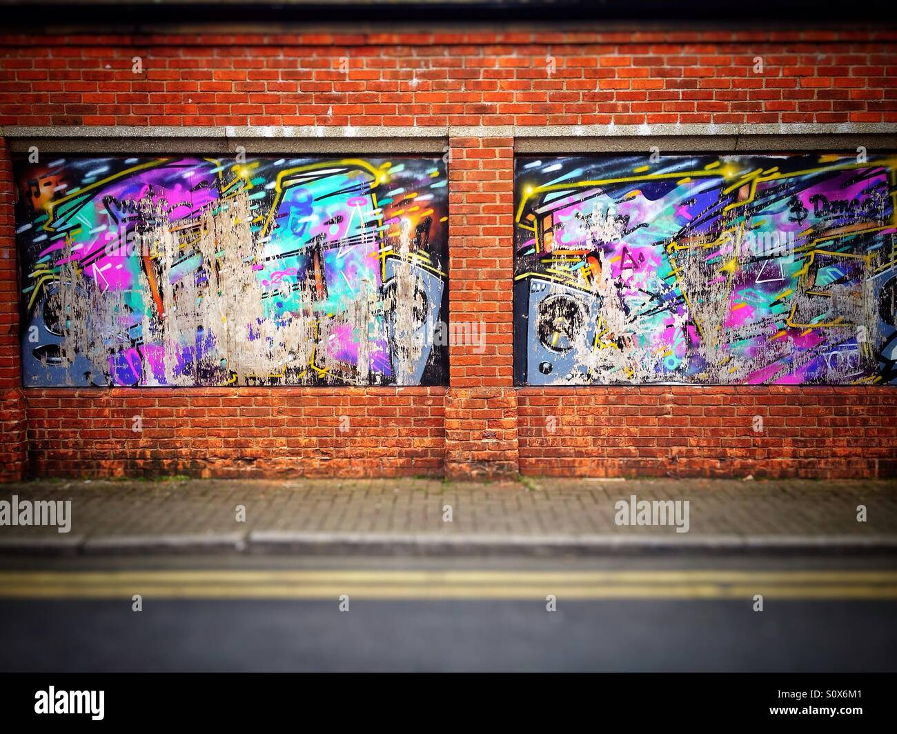 Street art in High Wycombe - Stock Image