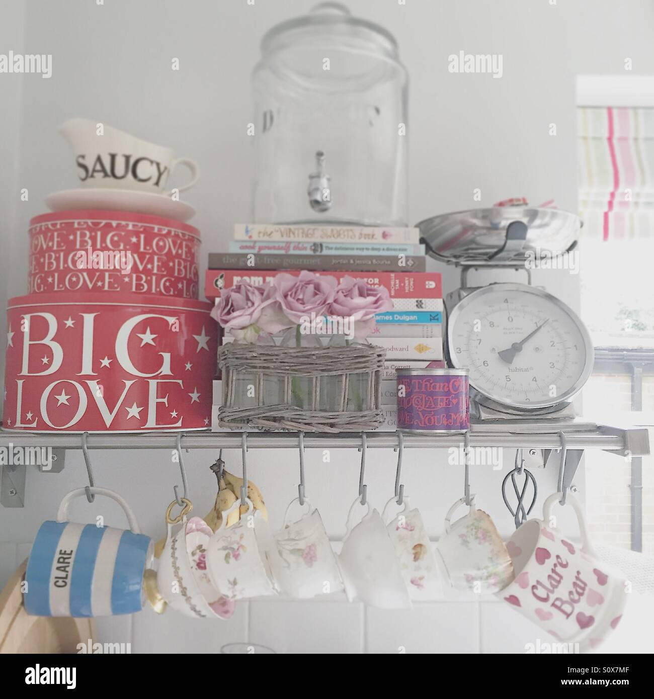 Kitchen Shelfie - Stock Image