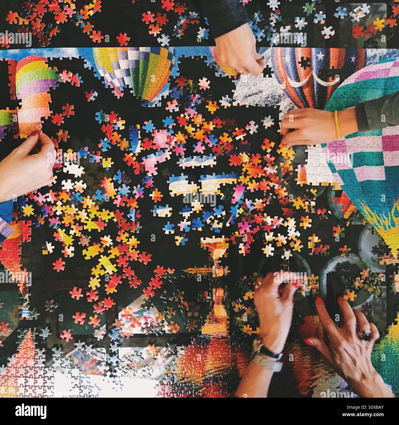 Jigsaw Puzzle - Stock Image