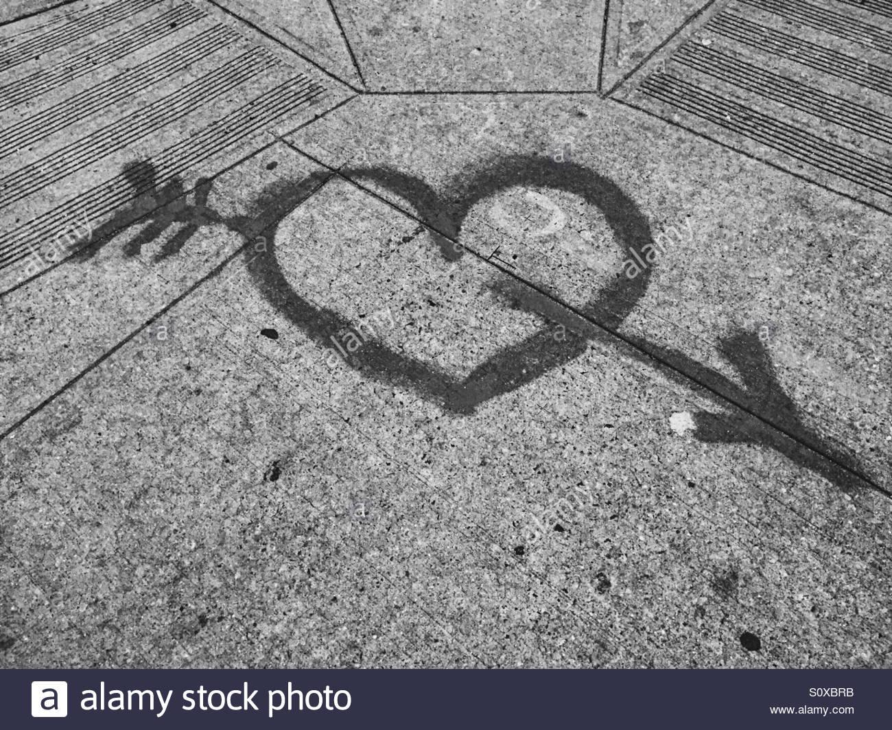 Sidewalk Romance - Stock Image