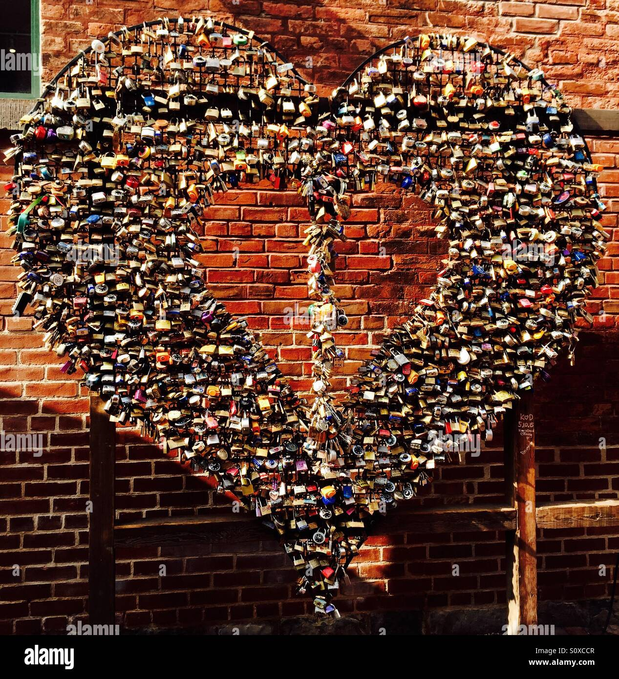Love locks II - Stock Image