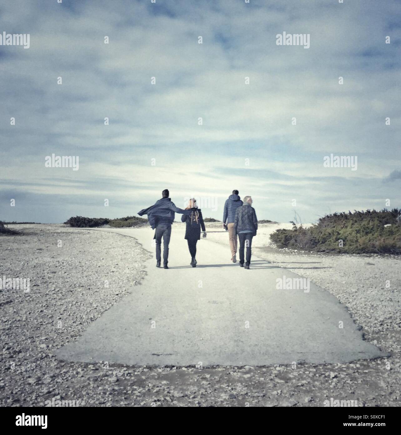 People on Fårö Gotland Sweden - Stock Image