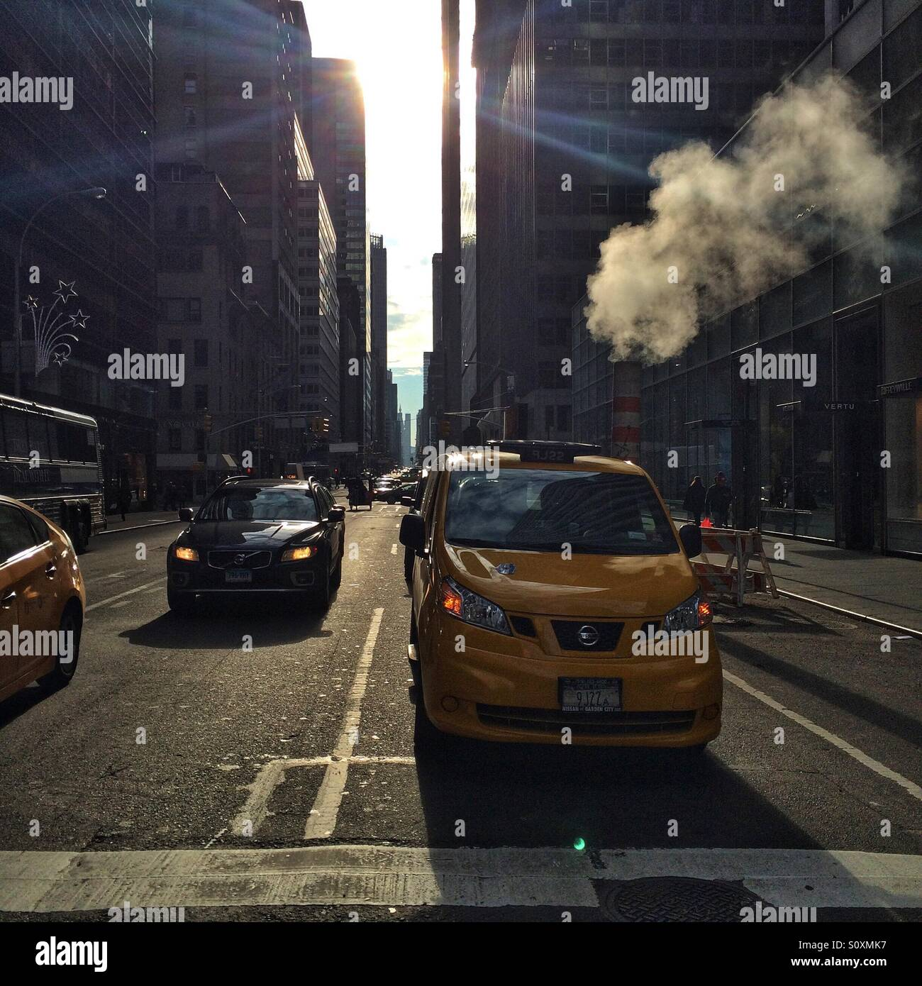 Newyork street in the morning - Stock Image