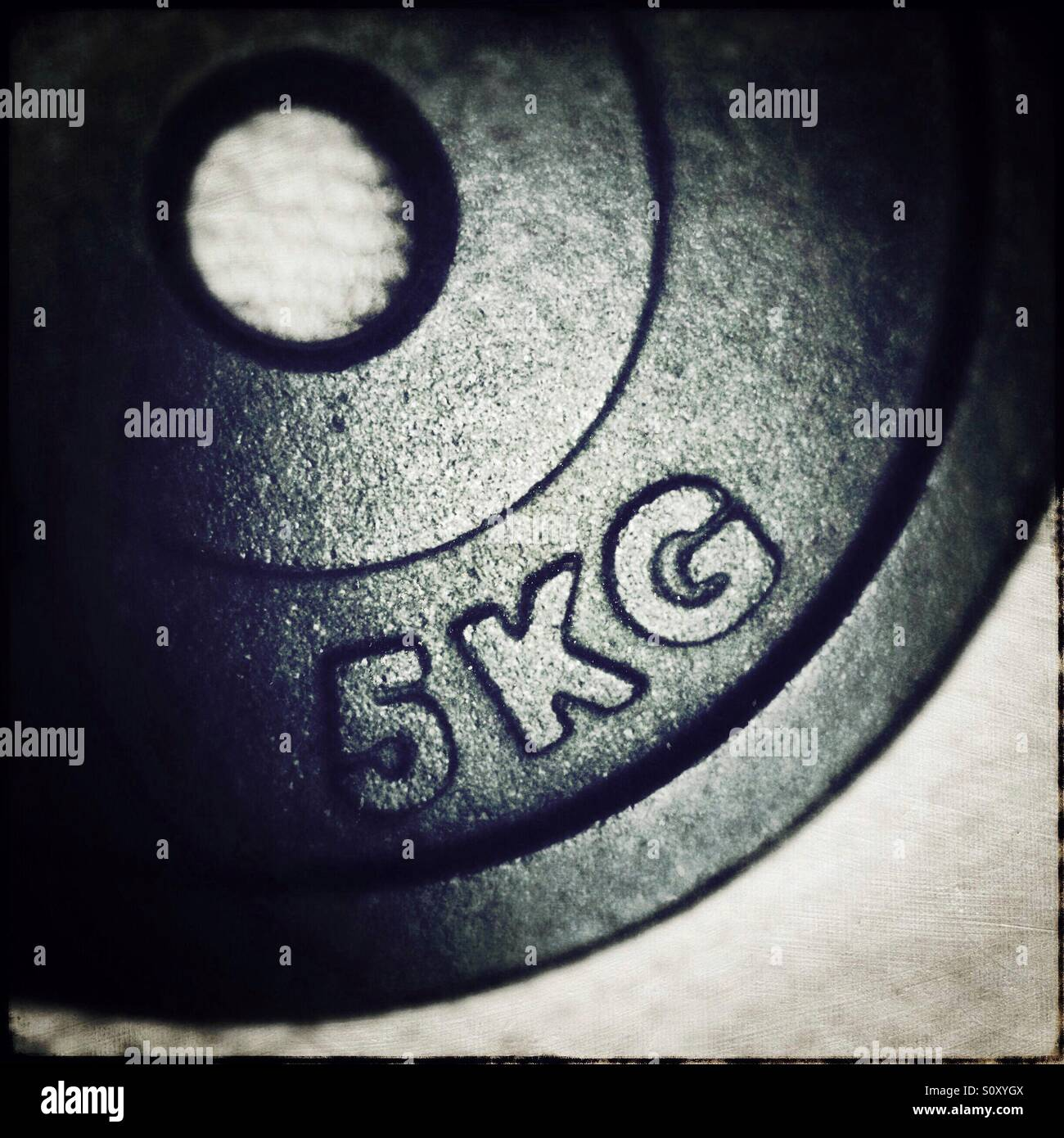 5KG weight - Stock Image
