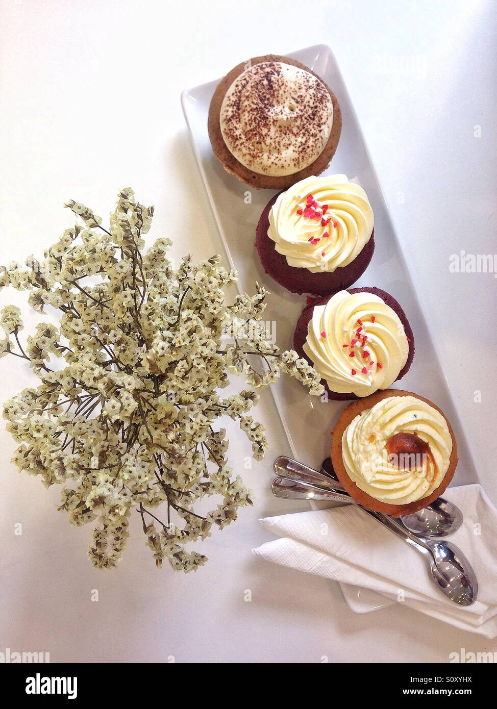 Cupcakes for tea time - Stock Image