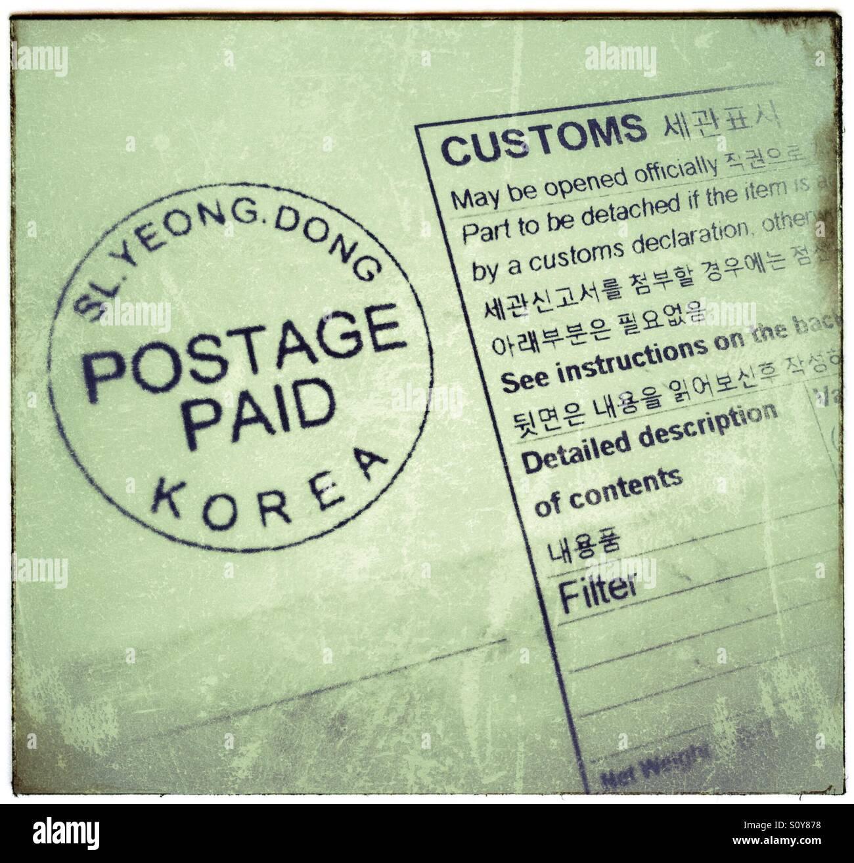 Korea Postage Stock Photos & Korea Postage Stock Images - Alamy