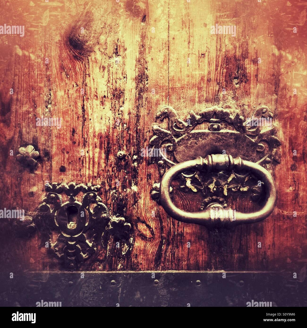 Old door knocker at Abaco, Palma, Majorca Stock Photo