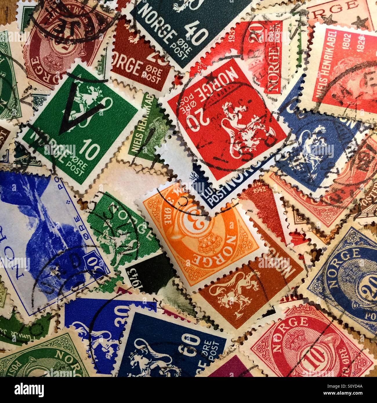 Norwegian Stamps - Stock Image