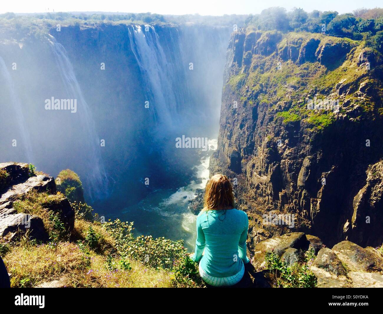 Walking in the footsteps of my grandparents - Victoria falls - South Africa Stock Photo
