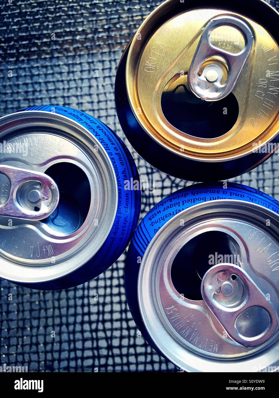 Metal cans - Stock Image