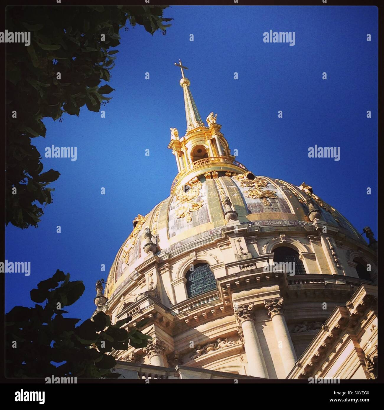 The dome of napoleons resting place, Paris - Stock Image