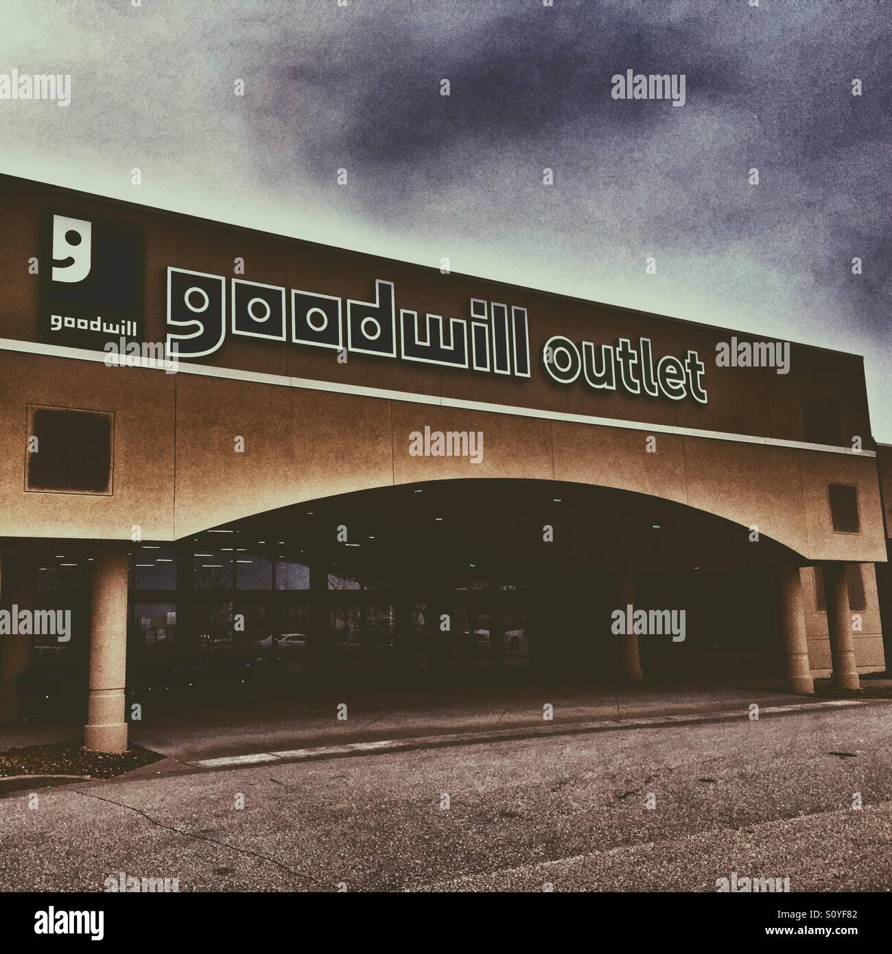 Goodwill Outlet Thrift Store - Stock Image