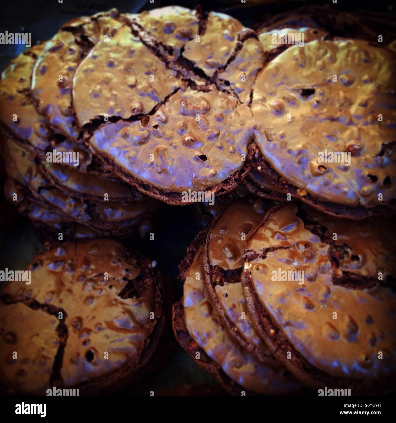 Chocolate nutty cookies at the BFM - Stock Image