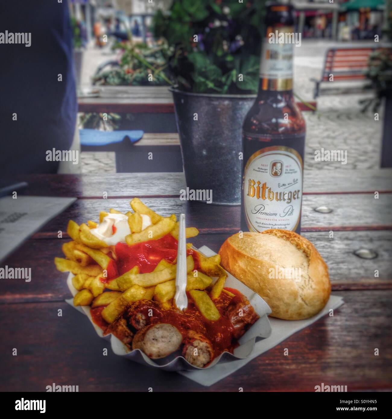 Currywurst in Frankfurt, Germany Stock Photo