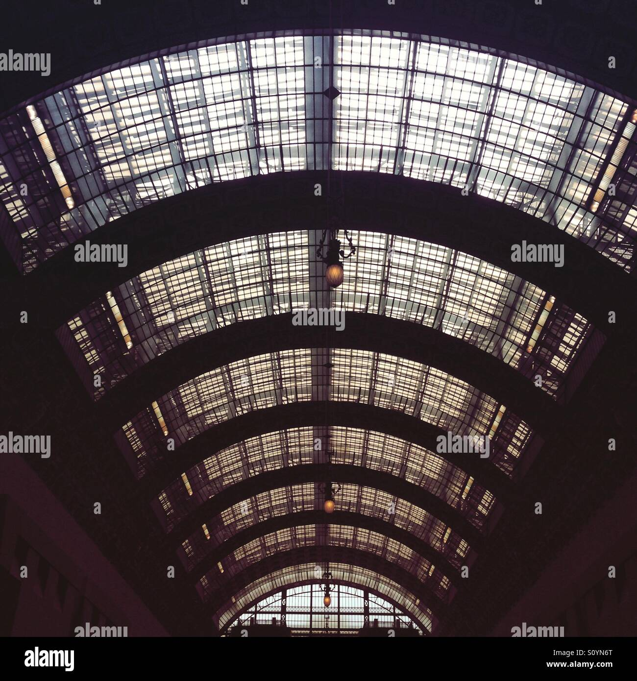 The glass roof of the Musee D'Orsay, Paris - Stock Image