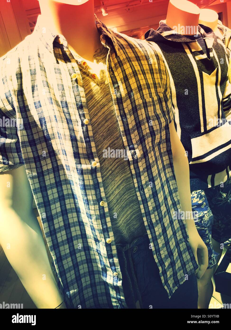 bd72f6b614e3 Mannequins Display casual men s clothing in department store ...