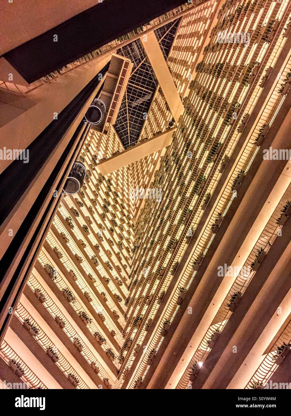 Hotel void in Singapore - Stock Image