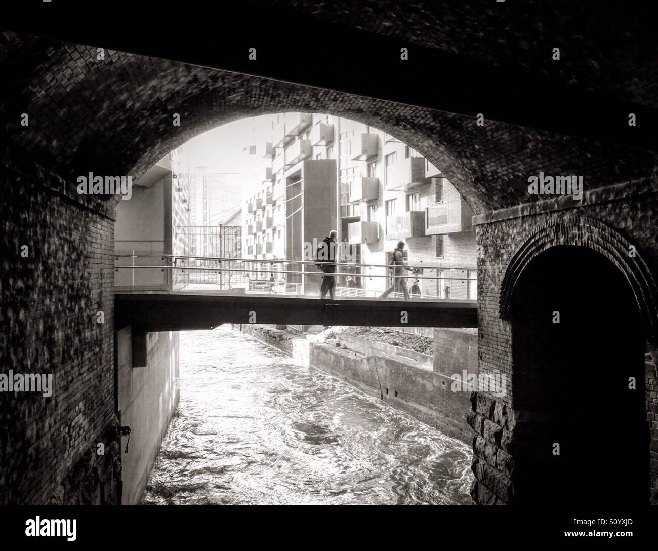 Dark Arches, Leeds, West Yorkshire. Stock Photo