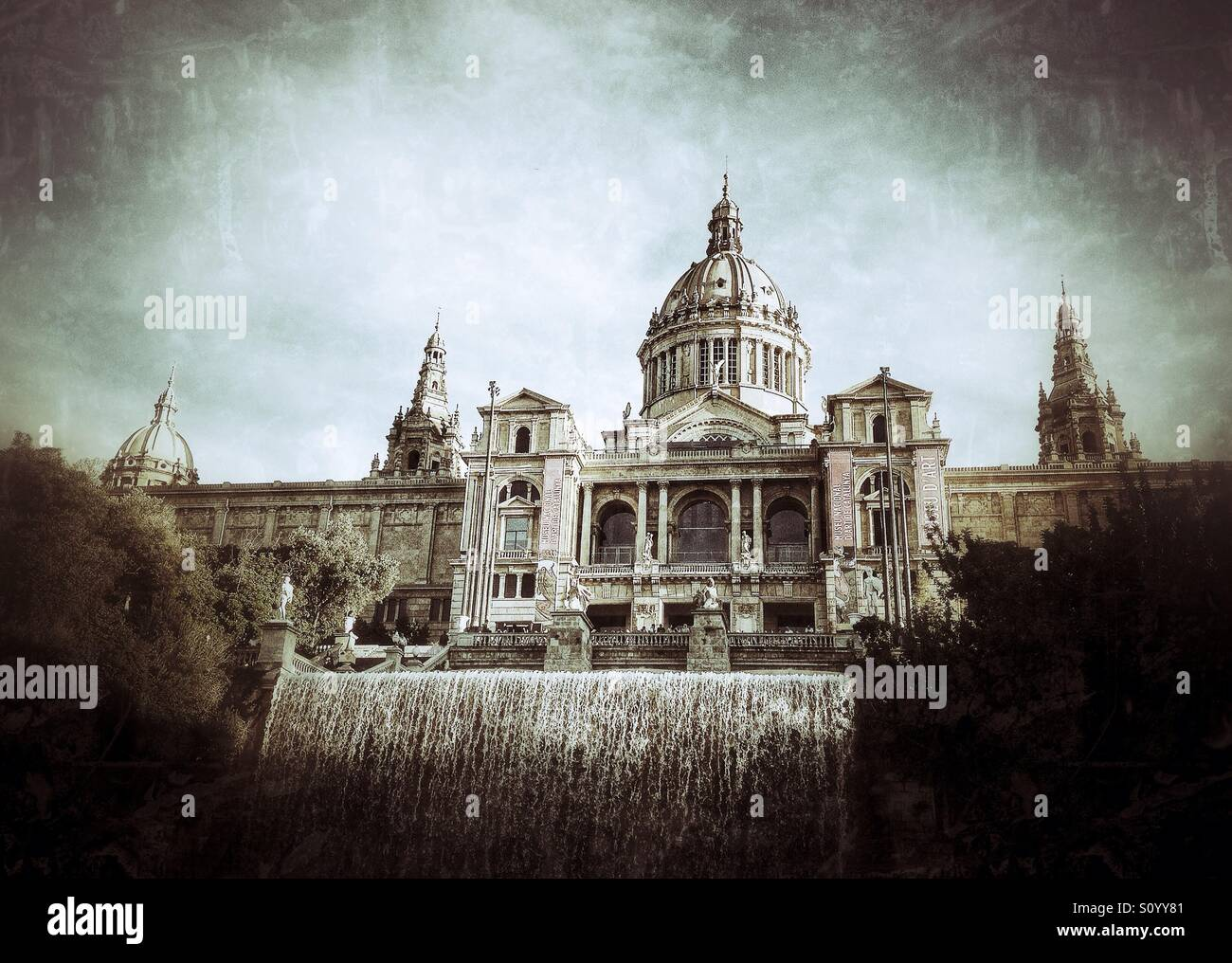 MNAC (National Art Museum of Catalonia) in Barcelona, Spain - Stock Image